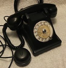 L@@K - French U43 - Rotary Dial, Desk Telephone - Black Bakelite - made in 1946.