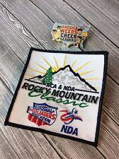 Rocky Mountain Co Classics Nca Nda Cheer Cheerleading Cheer Leader Pin & Patch