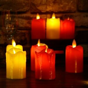 3 pcs Flameless Candles LED Battery Operated Flickering Lamp Battery Operated