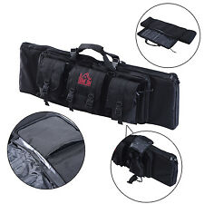 "HOMCOM Single Rifle Bag Tactical 42"" Arm Gun Case Pouch Firearm Straps Storage"