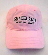 ELVIS PRESLEY Pink Women's GRACELAND HOME OF ELVIS Baseball Hat Cap One Size