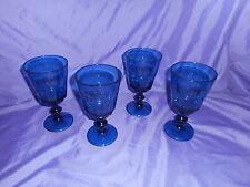 4 NEW LE CADEAUX POLYCARBONATE BLUE BISTRO STEMMED WINE GLASS BREAK RESISTANT