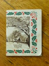 Happy Christmas Verses by Patience Strong - Vintage Photocrom Midget Book, 1940s