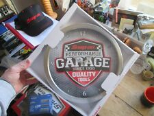 SNAP ON TOOLS - PERFORMANCE GARAGE SINCE 1920 QUALITY TOOLS ADVERTISING CLOCK