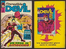 L'INCREDIBILE DEVIL 37 UN EROE IN GINOCCHIO CORNO 23/9/1971 IRON MAN SUB MARINER