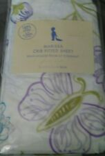 New Pottery Barn Kids Marissa BUTTERFLY Crib SHEET toddler bed purple floral