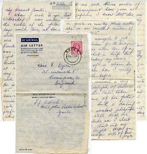 RHODESIA NYASALAND 1956 Stationery Airletter 6d..Rhodes School Barratt Message