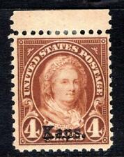 1¢ WONDER'S ~ US #662 BLK4 F-VF MH 4¢ KANSAS OVPT ~ O850