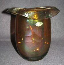Kaspar Silesia Kristallglas Vase Bernsteinfarben irisierend