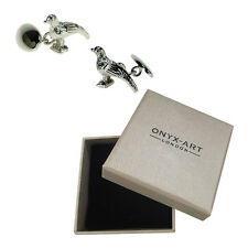 Mens Silver Plated Pheasant Game Cufflinks & Gift Box - Shooting By Onyx Art