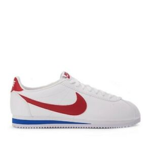 NEW Nike Cortez Forest Gump Trainers White Red Blue Rare Retro Lot UK Size 4.5