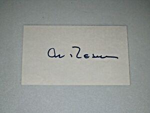 Al Rosen signed Cleveland Indians MLB Index Cards JSA 1947-1956