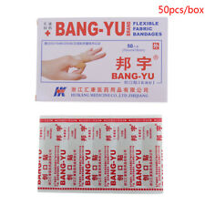 50PCS Strips Band aid PE Waterproof Bandages Adhesive Bandages First Aid Kit P5