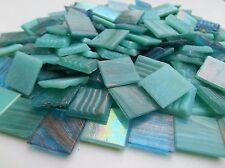 Mosaiksteine 1000g Türkis Mix Goldregeneffekt und irisierende Glasmosaiksteine