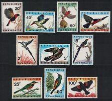 Rwanda Bishop Kingfisher Barbet Cuckoo Hoopoe Sunbird Birds 10v MNH SG#239-248