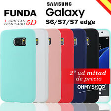 Funda Samsung Galaxy S6/S7/S7 Edge Carcasa Silicona Gel Flexible Ultra Suave Tpu