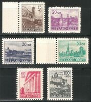 DR Nazi 3rd Reich Rare WW2 Stamp 1941 Castles Hitler Estonia Occupation Estland