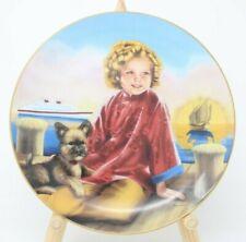 The Danbury Mint Shirley Temple Collector Plate Stowaway w/Coa