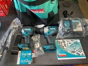 Makita Tools 2-Piece 18V XPH07 1/2'' Hammer Drill, XDT14 1/4'' Hex Driver Kit