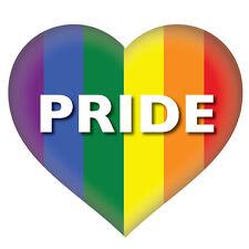 2 x Pride Heart Gay LGBT, car, van decal sticker