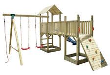 Parco Giochi in Legno per Bambini Torrette Altalene Scivolo Esterno da Giardino