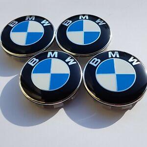 For BMW ALLOY WHEEL CENTRE CAPS E30,E36,E46,E92 1,3,5,6,7,X5 X6 M3 Z4 68mm X4pcs