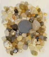 Lot of 100+ Small Translucent Gems #D7 Pacific Ocean Natural Rough Agates Stones