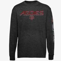 Texas A&M Aggies Long Sleeve T-shirt XL Grey Section One Majestic NCAA