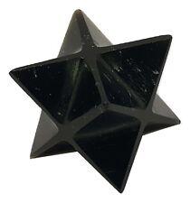 Black Obsidian Merkaba Star Reiki Energy Charged  Crystal Healing Protective