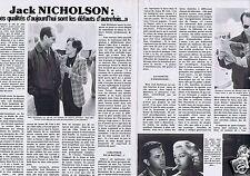 Coupure de presse Clipping 1980 Jack Nicholson (2 pages)