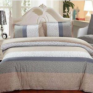 1.5m/1.8m 4 pcs Cotton Bedding Set Pillowcase Quilt Duvet Cover Flat Sheet Elege
