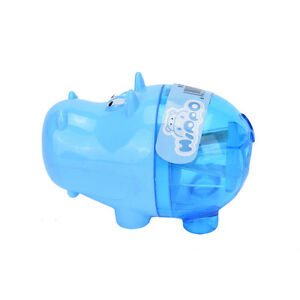 3x Stationery Hippo Pencil Sharpener  Student Kids Cute Y_ti