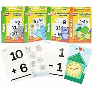1st Grade Math Flash Cards with Stickers by Playskool - 4 Pack