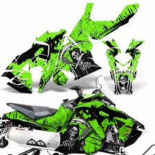 Sled Wrap for Polaris AXYS RUSH Pro S Graphic Snow Decal Kit Snowmobile REAP GRN