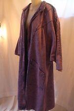 Oversized Acid Wash Batwing Jacket/Coat - Purple Denim - new wave - One Size