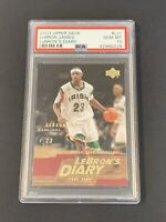 2003 Upper Deck LeBron James LeBron's Diary #LJ1 ROOKIE CARD RC PSA 10 GEM MINT