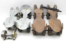 2 Pair Vintage 1950s Steel Roller Skates Adjustable Springfield Sealand Inc.