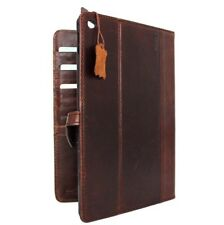 genuine Leather case for apple iPad Air 2 magnet cover card slots slim brown new