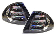 For BMW 3 Series E46 Saloon Touring 98-01 Black With Chrome LED Front Indicators
