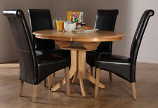 Oak Round Contemporary Kitchen & Dining Tables