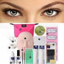 NEW Semi Permanent Make Up Individual Eyelash Extensions Glue Tool Kit Set Bag