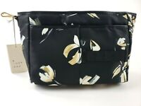 Womans Floral Bag Organizer A NEW DAY - Make Up Pockets With Zipper / Snap Close