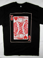 King of Hearts Cards poker graphics tee shirt men's black Choose A Size