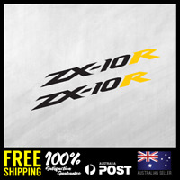 2X Kawasaki ZX10R Stickers Decals 195x17mm JDM Racing Motorbike Bike