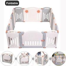 Foldable 14 Panel Safety Play Center Baby Playpen Kids Yard Home Indoor Outdoor