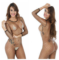 Free Size Ladies Nylon Spandex Fishnet Body Stocking Nets lingerie Sex Jumpsuit