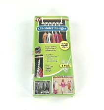 Wonder Hanger Pack of 8 in White, Magical Cascading Hangers Space Saving