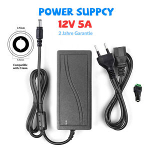 12V 5A Netzteil Trafo Power Supply Driver Adapter DC-Stecker für LED Stripe Band