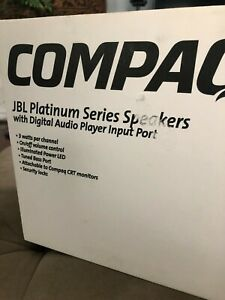 NEW! JBL Platinum Series Computer Speakers Wired COMPAQ/HP Model SPN 283757-001