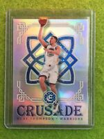 KLAY THOMPSON PRIZM REFRACTOR WARRIORS CHAMPIONSHIP 2016-17 Excalibur Crusade#26